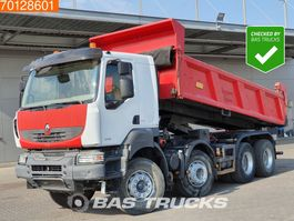 kipper vrachtwagen > 7.5 t Renault Kerax 450 8X4 Manual Intarder Big-Axle Steelsuspension 2008