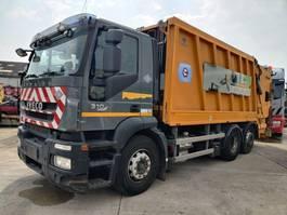 vuilniswagen vrachtwagen Iveco 310 Stralis 6X2 Euro5 + FAUN Wastecollector 2009