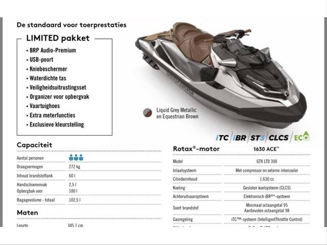 waterscooter Diversen Seadoo GTX 300 2020