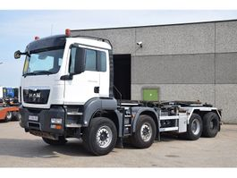 containersysteem vrachtwagen MAN TGS 41.480 8X4  ## 9 TON FRONT AXELS 2013