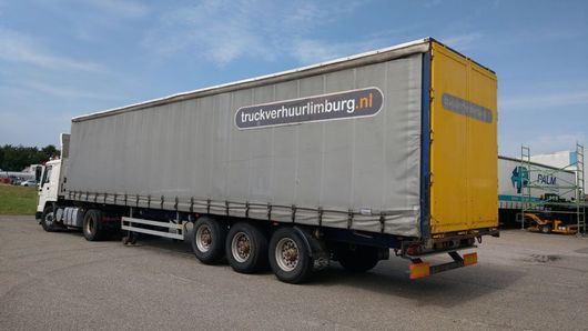 schuifzeil oplegger Pacton Sliding roof / Disc-brakes / Alu rims / Lift-axle / ABS / New MOT / Dutch Registration / T3 004 1998
