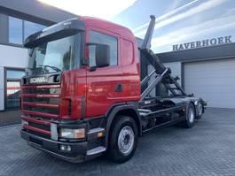 containersysteem vrachtwagen Scania 124 G 420 6x2 Meiller Hooklift lift/steering axle 2004