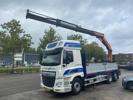 open laadbak vrachtwagen DAF CF 440 FAR 6X2 EURO 6 + PALFINGER PK23500 MET REMOTE 2014