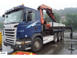 containersysteem vrachtwagen Scania G480 8x4 Tridem hook truck with newly refurbished 2012