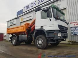 kipper vrachtwagen > 7.5 t Mercedes-Benz 1832 Actros 4x4 Meiller Kran PK 10501 Hydraulik 2008