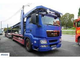 autotransporter vrachtwagen MAN TGS 18,480 car transporter with trailer 2009
