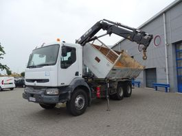 kipper vrachtwagen > 7.5 t Renault KERAX 370 / TIPPER / HIAB 095-2 CRANE / MANUAL / LOW KILOMETERS / 2004 2004