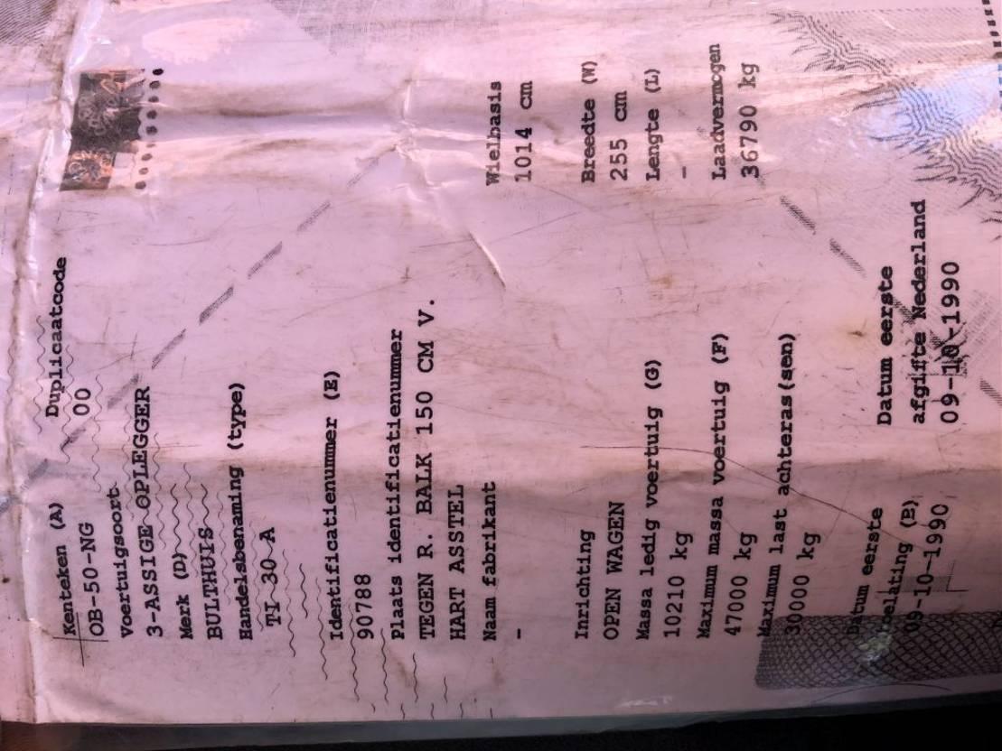 platte oplegger Bulthuis TI 30 A 1990