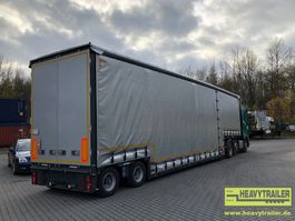dieplader oplegger Meusburger 2-Achs-Jumbo-Tiefbett mit Planenaufbau 2018
