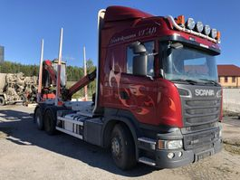 houttransporter vrachtwagen Scania R580, 6X4, Euro 6, Retarder, + Epsilon M110, 2015, 2014