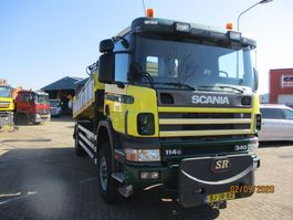 kipper vrachtwagen > 7.5 t Scania 114 C 340 4X4 KIEPER+HMF KRAAN 2000