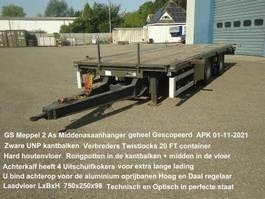 open laadbak aanhanger GS AN-2000 2 As Open Wipkar Zware UNP kantbalken Twistlocks  20 FT veel extra's 2004
