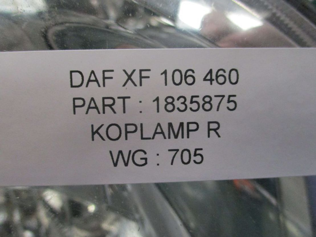 Koplamp vrachtwagen onderdeel DAF 1835875 XF 106 Rechts