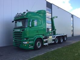 containersysteem vrachtwagen Scania R520 8X2  RETARDER STEERING AXLE EURO 6 HOOK JOAB 22T. 2014