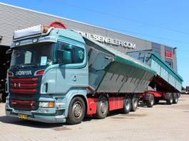 kipper vrachtwagen > 7.5 t Scania R500 8x2 inkl. Trailer 2011