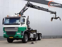 containersysteem vrachtwagen Ginaf X 3335S 6x6 - 25T Haakarm, Hooklift, Abrolkipper - 14TM Kraan, Crane, Kran 2004