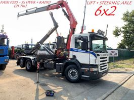 containersysteem vrachtwagen Scania P310 6x2 CONTAINERSYSTEEM + KRAAN FASSI F210 - 3x HYDR + RADIO - LIFT + ... 2006