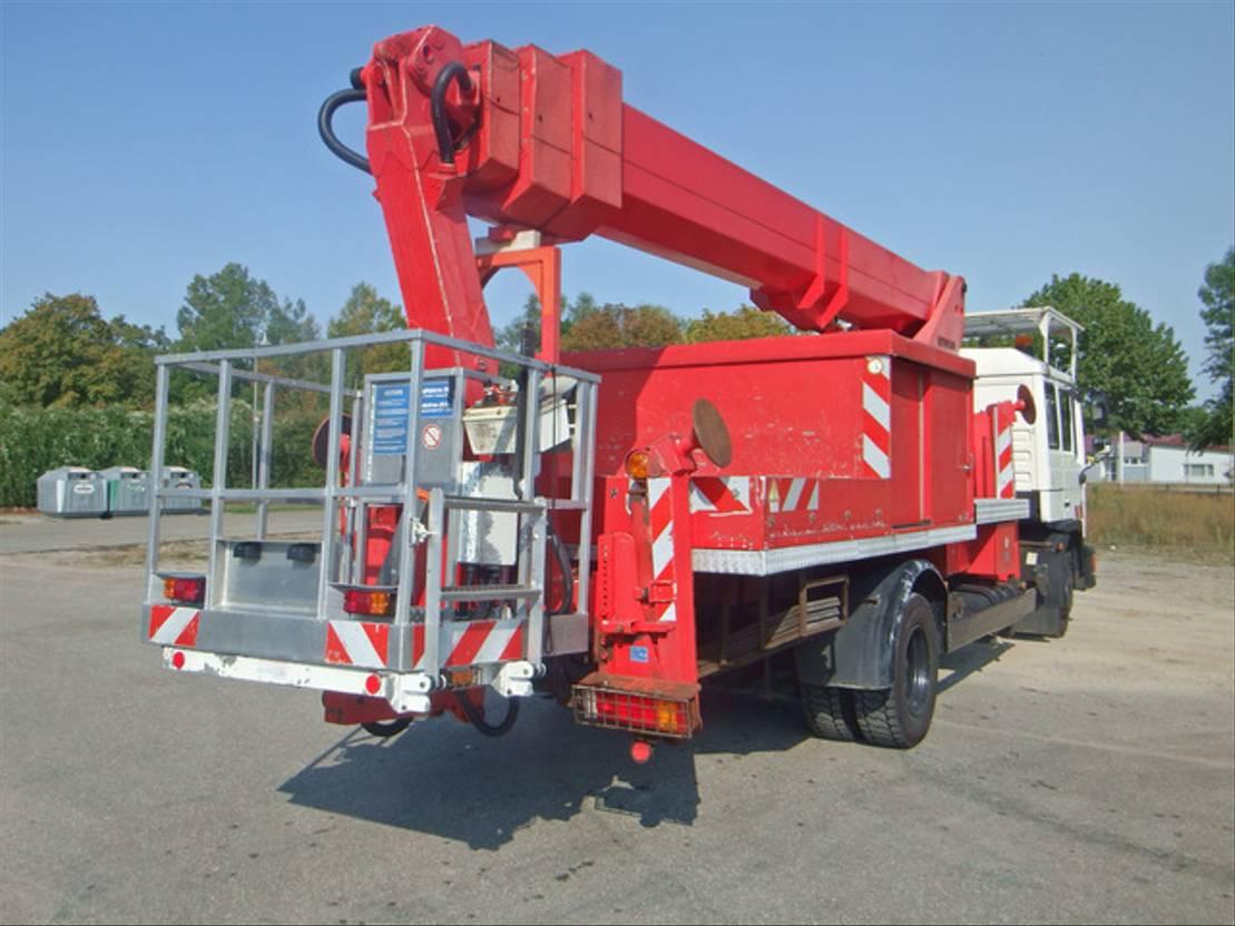 autohoogwerker vrachtwagen MAN 14.162 Ruthmann T 280 Hubsteiger wie WUMAG 1996