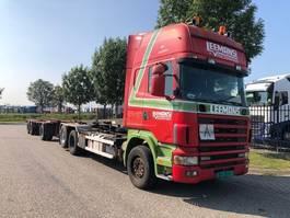 containersysteem vrachtwagen Scania R 124 GB, 6X2 , NCH kabelsysteem, handgeschakeld, retarder 2000