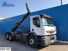 containersysteem vrachtwagen Renault Lander 410 Dxi 6x2, Manual, Hook lift, Retarder, Airco, Hub reduction, e... 2007