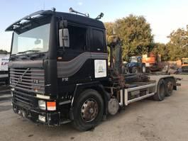 containersysteem vrachtwagen Volvo F12 6x2 **ORIGINAL GERMAN TRUCK - HOOKLIFT + CRANE ** 1991