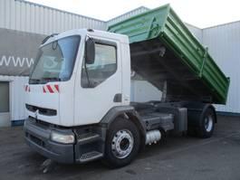 kipper vrachtwagen > 7.5 t Renault Premium 260, 3 way tipper , spring suspension 2001