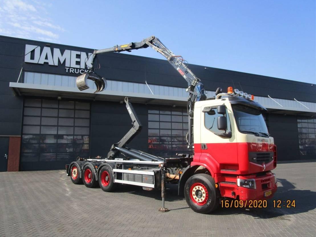 containersysteem vrachtwagen Renault PREMIUM 8x4 Tridem 2014