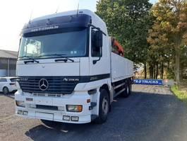 platform vrachtwagen Mercedes-Benz Actros 2543 plateau met zijborden + kraan palfinger PK 16000+pallet haak... 1997