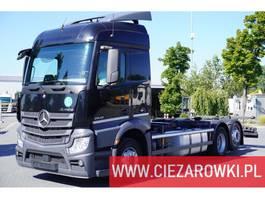 chassis cabine vrachtwagen Mercedes Benz Actros 2542 , E6 , 6x2 , BDF , chassis 7m , retarder , Streamspa 2016