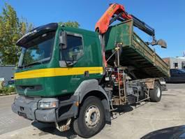 kipper vrachtwagen > 7.5 t Renault KERAX 320 DCI 4X2 MANUAL FULL STEEL + PALFINGER PK11502 2003 2003