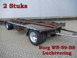 open laadbak aanhanger Burg & Groenewegen 2 As Aanhangwagen T.b.v. Wissellaadbakken, 2 Stuks