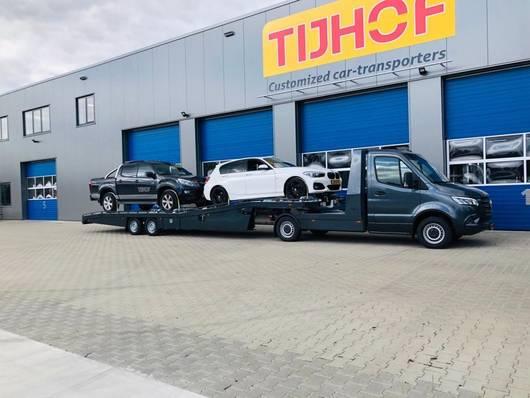 autotransporter oplegger Tijhof Mercedes Sprinter trekker + TO5000 oplegger 2020
