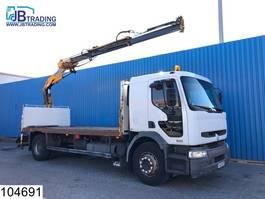 platform vrachtwagen Renault Premium 270 Manual, Steel suspension, Effer Crane, Remote, Airco, Hub re... 2002