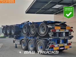 container chassis oplegger Groenewegen 1x Unit! 3 axles 1x 20 ft 1x30 ft ADR 2006