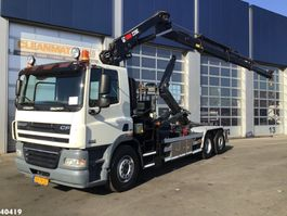 containersysteem vrachtwagen DAF FAN 85 CF 410 Hiab 22 ton/meter laadkraan 2009