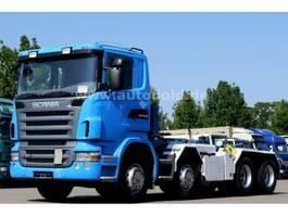 kipper vrachtwagen > 7.5 t Scania R 420  8x4 Haken-Abrollkipper UT Saurier 2009