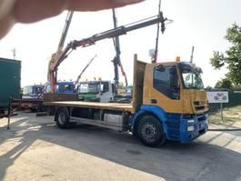platform vrachtwagen Iveco STRALIS AD 190S42 + CRANE PALFINGER PK11002 A - STEEL SUSPENSION / BLATT... 2010