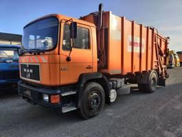 vuilniswagen vrachtwagen MAN 19-242 F 4X2 SCHÖRLING WasteCollector / Müllwagen / Benne Ordures 1990