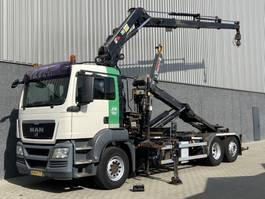 containersysteem vrachtwagen MAN TGS 26.400 6X2-4 / Hiab kraan / Haak / Radio remote / 384.253 KM / NL truck 2009