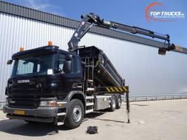 kipper vrachtwagen > 7.5 t Scania P360 6x2, Lift- Stuuras, Lift- Lenkasche, Lift- Steeraxle, HMF 24 TM kra... 2011