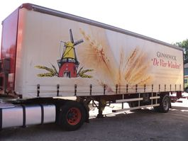 schuifzeil oplegger Fruehauf 1 assige trailer met laadklep 2003