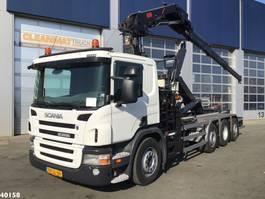 containersysteem vrachtwagen Scania P 320 Triple Hiab 16 ton/meter laadkraan 2010
