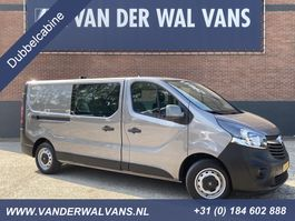 gesloten bestelwagen Opel Vivaro 1.6CDTI 125PK L2H1 Dubbele Cabine Airco, Navigatie, Camera, 5-zit... 2018
