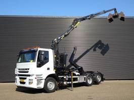 containersysteem vrachtwagen Iveco AD 260S31 / HAAKARM / Z KRAAN / 123DKM / 6X2 2012