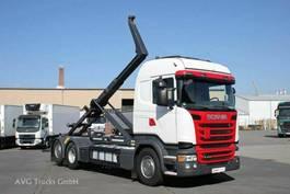 containersysteem vrachtwagen Scania R 410 6X2*4 Lenkachse Meiller RK 20.70 Retarder 2015