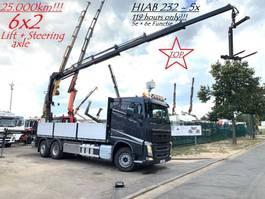 platform vrachtwagen Volvo FH 420 + CRANE HIAB X-HIPRO 232 E-5 (23Tm - 5x Hydr) - I-SHIFT - 25.000k... 2018