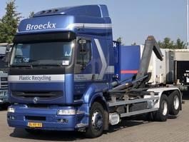 containersysteem vrachtwagen Renault PREMIUM 420 DCI MANUAL 10 TYRES HAAKARM 2001