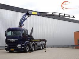 containersysteem vrachtwagen MAN TGS 35.400 8x2 - Haakarm, Hooklift, Abrolkipper - 36 TM Kraan, Crane, Kran 2010