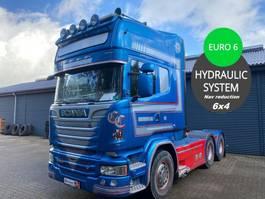 standaard trekker Scania R580 3100mm 6x4 Huc reduction Heawy duty Truck inkl. hydr. 2014