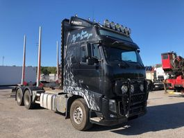 houttransporter vrachtwagen Volvo FH750, 6x4, Euro 5, Timber-truck, 2013 2012